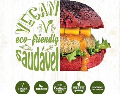 Branding Vegana Burgers Atrium Saldanha_print design