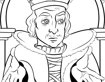 "Coloring ""Kings of England"""