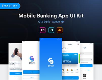 City Bank - Mobile Banking App UI Kit