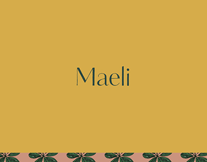 Maeli / Hand-lettered brand identity design for florist