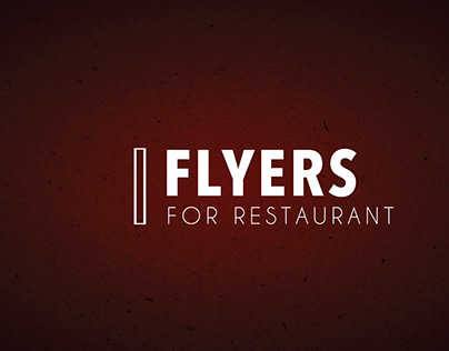 Flayers for restaurant