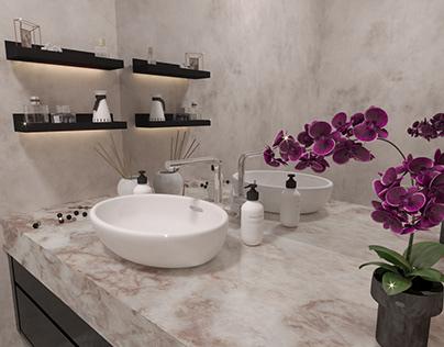 Stylish bathroom shelves