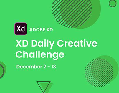 Adobe XD Daily Creative Challenge December 2-13