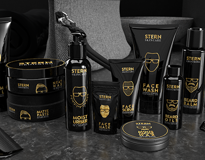 Branding & Packaging Design: STERN Grooming