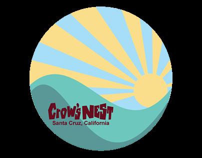 Crow's Nest merchandise designs