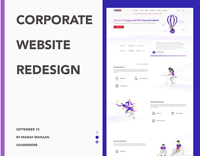 Website Redesign | TechGig Corporate