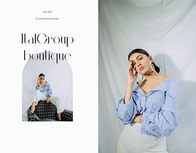 E-commerce concept for women's clothing boutique