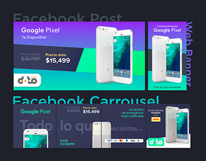 Banners for Online Store - Google Pixel & PS4 Pro