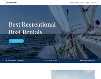 BOAT RENTAL WEBSITE