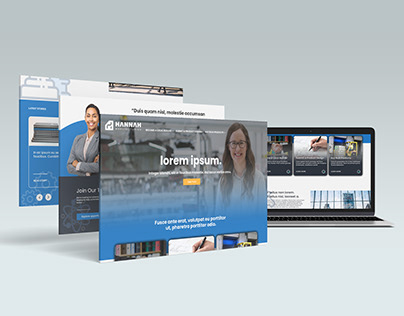 Mannufacturing Company Landing Page