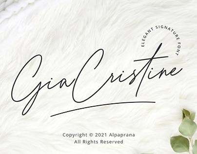 Gia Cristine - Elegant Signature Font