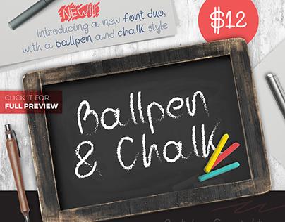 Ballpen and Chalk Typeface