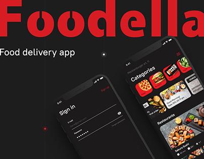 """Food delivery app """"Foodella"""""""