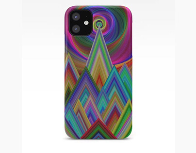 Summer Night at the Mountains Phone Case