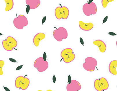 Pink and Yellow Apples