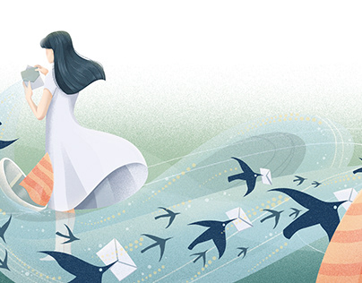 Black Bora - Editorial illustration for Firwords 11