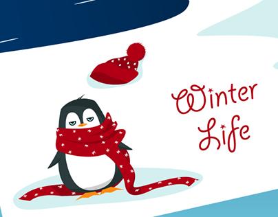 Penguins' winter life^^