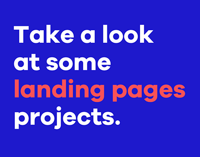 Landing Pages —Collection of UI/UX Design