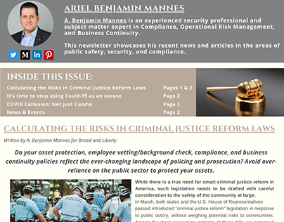 Public Safety and Compliance Newsletter | April 2021