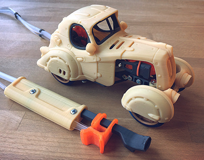 The Vapemobile - 3d Printable Pneumatic Toy
