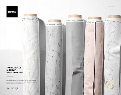 Fabric Rolls Mockup (20/FFv.6)