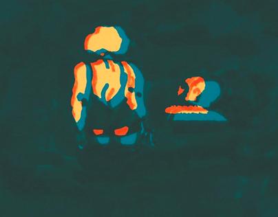 L'acqua non muore mai / illustrated poster