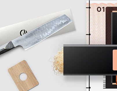 Packaging experience for a premium chef's knife