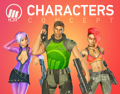 HDR Mobile Game Concept Characters
