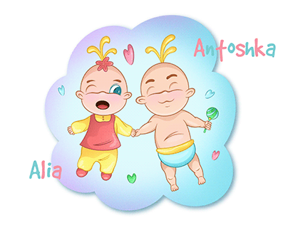 Babies character design for children's book