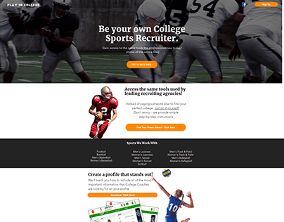 Play In College Sports Recruiting Website