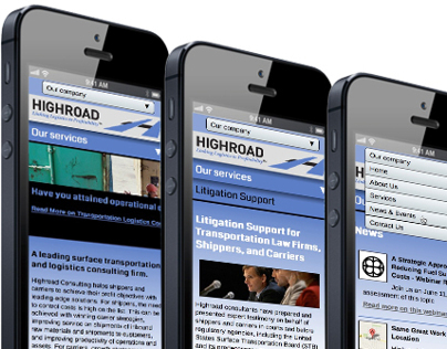 Highroad Consulting Responsive Website Design