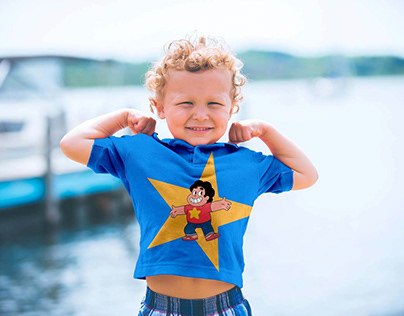 Free Short Sleeves Kids T-Shirt Mockup PSD