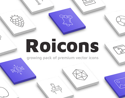 Roicons - premium vector icons