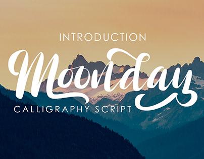 Moonday - Calligraphy Script