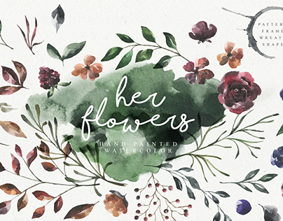 Her Flowers Watercolor Collection