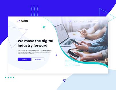 Kayne agency - Landing page / UI Design