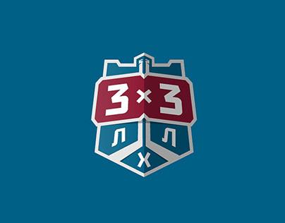 3x3 - Hockey League Logo