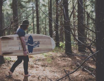 Handmade paulownia / cedar mini Simmons surfboard