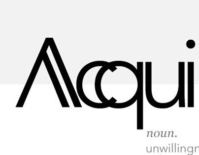 Acquiescence [Typography]