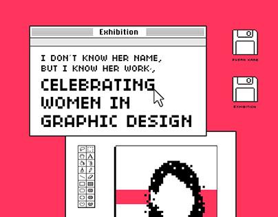 POSTER - CELEBRATING WOMEN IN GRAPHIC DESIGN EXHIBITION