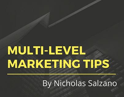 Multi-level Marketing Tips by Nicholas Salzano