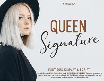 Queen Signature Font Duo