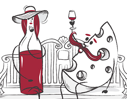 Wine illustrations