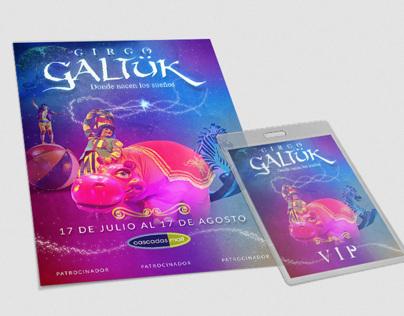 Circo Galtuk Flyer and VIP pass