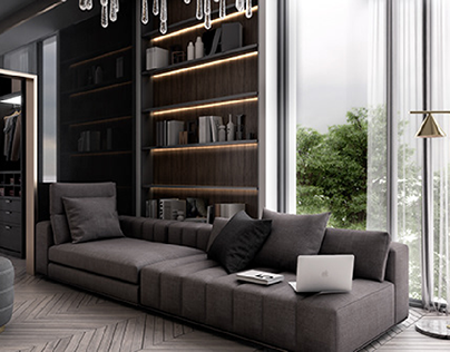 New classic bedroom, for interno design studio, oman.