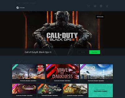 Steam Website Redesign Concept 2016