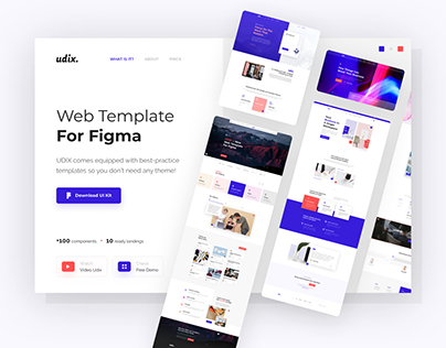 uDix — Figma UI Kit for Landings Pages