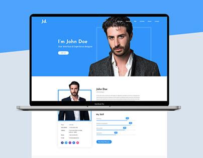 Free Resume Web Design PSD Template