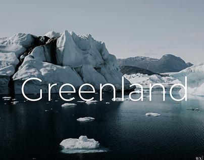 Travel agency website concept Greenland