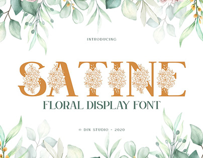 Satine-Floral Display Font